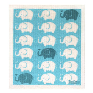Retro Kitchen Biodegradable Dish Cloth | Elephants