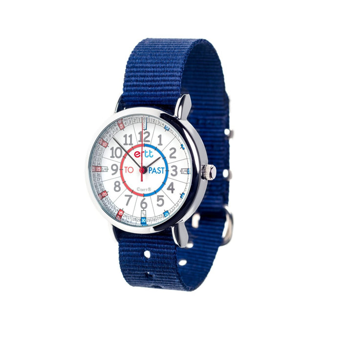 EasyRead Time Teacher Watch | Red/Blue Face | Blue Band