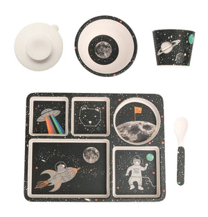 Love Mae Bamboo Divided Plate Set - Space Adventure