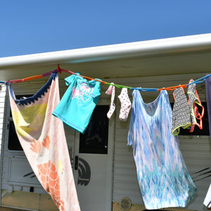 Slide n' Dry Pegless Clothesline - Coral - Australian Made