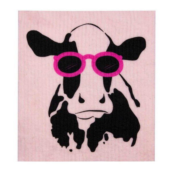 Retro Kitchen Biodegradable Dish Cloth | Cow