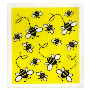 Retro Kitchen Biodegradable Dish Cloth | Bees