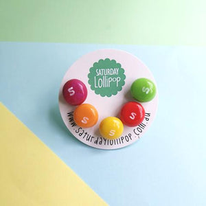 Saturday Lollipop Stud Earrings | Skittles