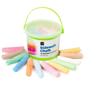 Jumbo Sidewalk Chalk - Washable 24's