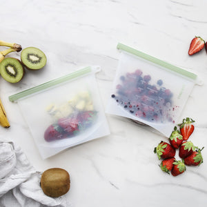 Ever Eco Reusable Silicone Food Pouches - Set of 2 x 1.5ltr