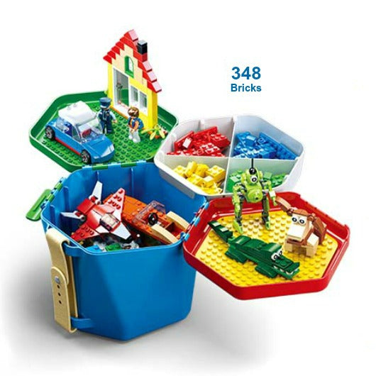 Sluban Bricks | Bucket of FUN - Green