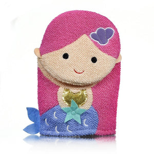 Star + Rose Mermaid Bath Mitt