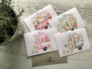 Vintage Caravan Christmas Card Set | Caravan Stationary