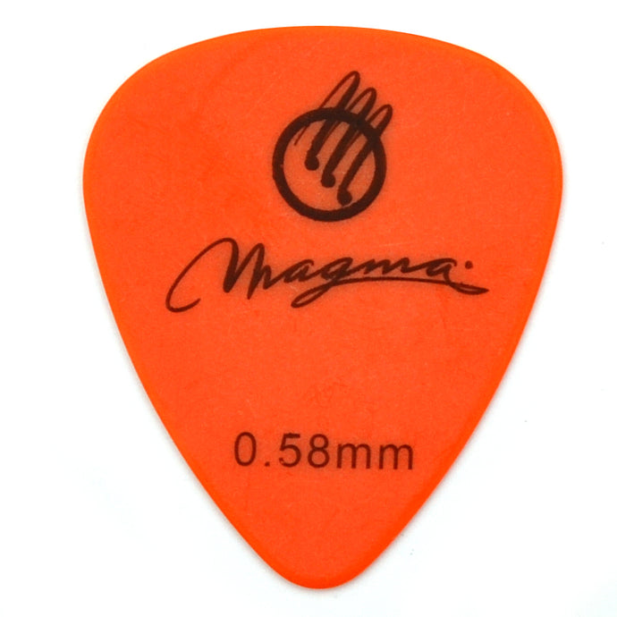 Magma Polyformaldehyde Standard .58mm Mix Color Guitar Picks, Pack of 25 Unit (PT058)
