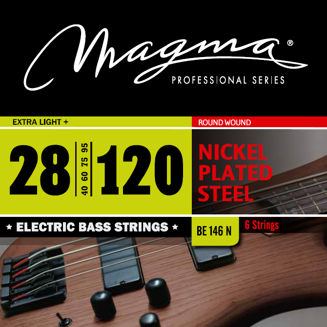 Magma Electric Bass Strings Extra Light - Nickel Plated Steel Round Wound - Long Scale 34