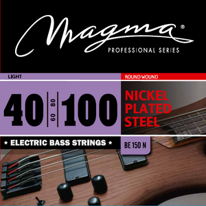 "Magma Electric Bass Strings Light - Nickel Plated Steel Round Wound - Long Scale 34"" Set, .040 - .100 (BE150N)"