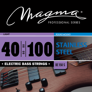 "Magma Electric Bass Strings Light - Stainless Steel Round Wound - Long Scale 34"" Set, .040 - .100 (BE150S)"