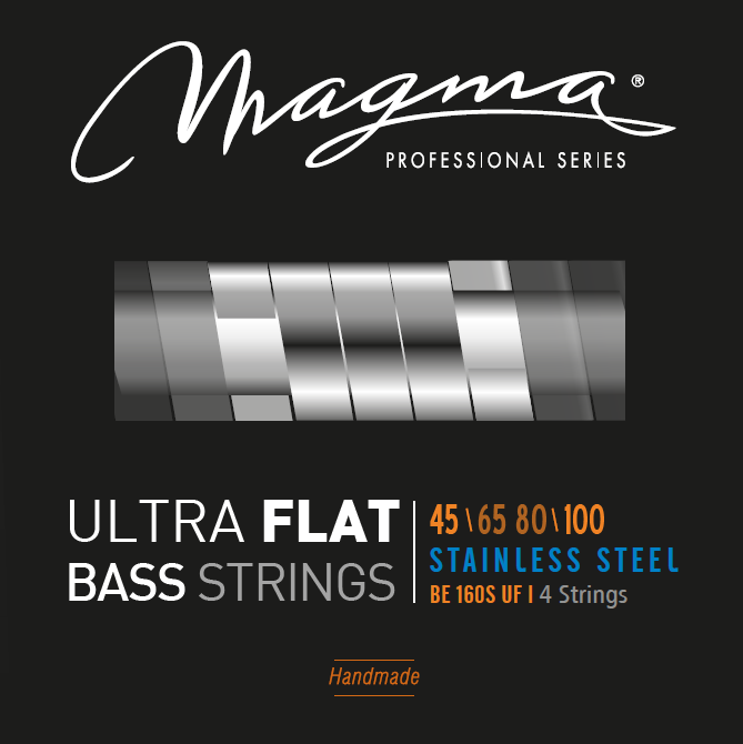 Magma Electric Bass Strings Medium Light- Steel Ultra Flat Strings - Long Scale 34