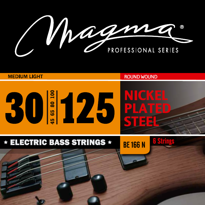 Magma Electric Bass Strings Medium Light - Nickel Plated Steel Round Wound - Long Scale 34