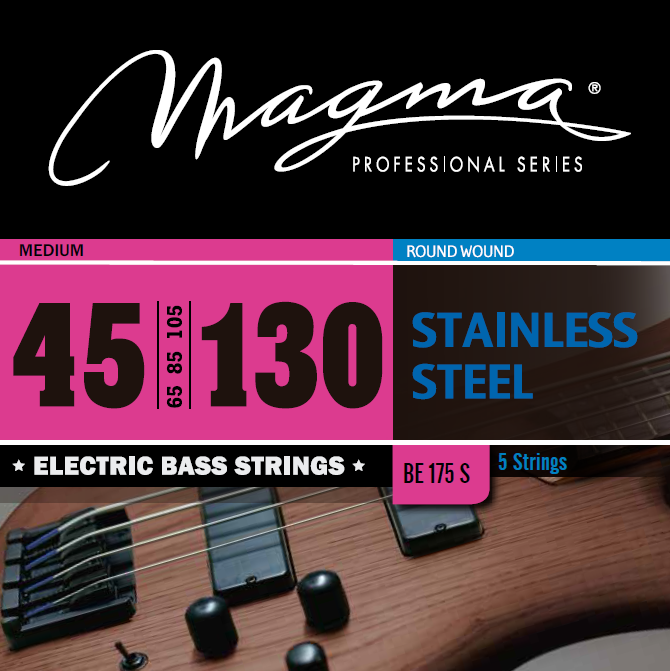 Magma Electric Bass Strings Medium - Steel Round Wound - Long Scale 34