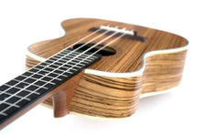 Load image into Gallery viewer, Magma Soprano Ukulele 21 inch Professional ZEBRA WOOD LINE with filete, strap pins installed and bag (MKS65)