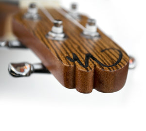Magma Soprano Ukulele 21 inch Professional ZEBRA WOOD LINE with filete, strap pins installed and bag (MKS65)