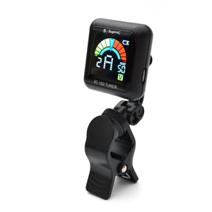 Magma Rechargeable Clip on Tuner for All Instruments - Guitar, Violin, Ukulele & Chromatic Tuning Modes, Fast & Accurate, Easy to Read, Professional and Beginner. LED Color Display (MCT-2)