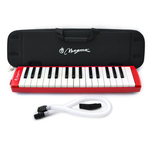 Magma 32 Key Professional Melodica Red with Eva rubber case (M3202PRO)