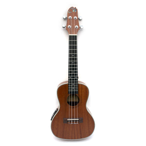 Magma Soprano Ukulele 21 inch Professional SAPELI WOOD LINE with filete, strap pins installed, bag and Preamp EQ (MKS30EQ).