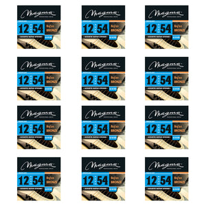 Magma Acoustic Guitar Strings Medium Light Gauge 80/20 Bronze Set, .012 - .054 (GA140B80)