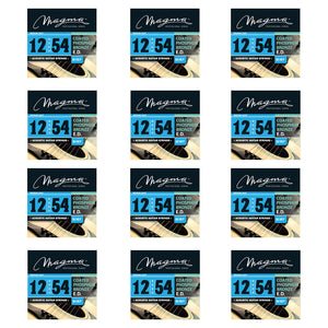 Magma Acoustic Guitar Strings Medium Gauge COATED Phosphor Bronze Set, .012 - .054 (GA140P)