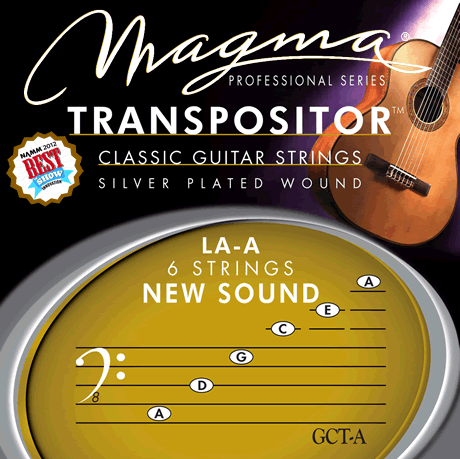 Magma Classical Guitar Strings TRANSPOSITOR LA -A NEW SOUND - Silver Plated Copper (GCT-A)