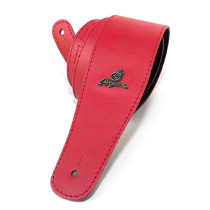 "Magma Leathers 2.52"" Delux Argentinean leather Guitar Strap Red (07MC05.)"