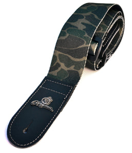 "Magma Leathers 2"" Soft-hand Polyester Guitar Strap Sublimation-Printed with Camouflaged Design, Genuine Leather Ends (07MP05.)"
