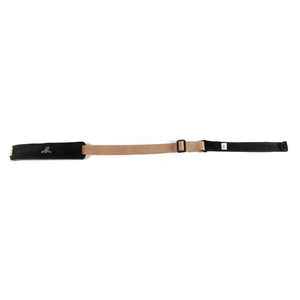 "Magma Leathers  2"" Soft-hand Polypropylene BEIGE PADDED CLASSICAL Guitar Strap with Leather Ends (07MPC04.)"