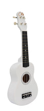 Load image into Gallery viewer, Magma Soprano Ukulele 21 inch Satin White Color with Bag (MK20B)