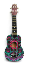 Load image into Gallery viewer, Magma Soprano Ukulele 21 inch Satin Mandala Desing with Bag (MK20M2)