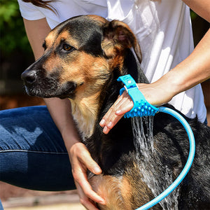 Pet Bathing Sprayer - Dog Washing Silicone Brush