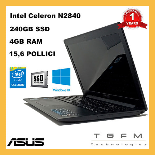 Asus X553MA | Intel Celeron | 240 GB SSD | 4 GB Ram | 15.6 pollici | Webcam | WiFi |