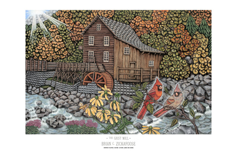The Grist Mill 36x24 Inch Poster