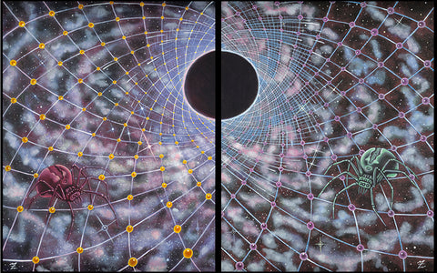 Spider Eclip-Tych - Canvas Edition