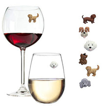 Load image into Gallery viewer, Simply Charmed Magnetic Dog Wine Charms