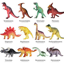 Load image into Gallery viewer, 12 Pack of Realistic Plastic Dinosaur Toys