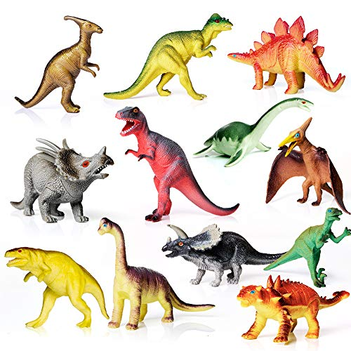 12 Pack of Realistic Plastic Dinosaur Toys
