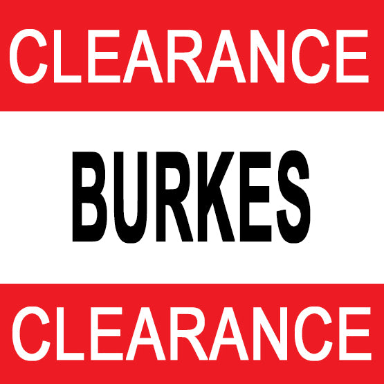 Burkes Clearance Sale