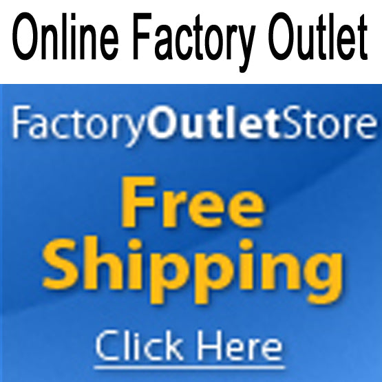 Factory Outlet Store offers free shipping and name brands....
