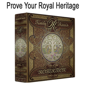 Prove your royalty with a personalized genealogy binder...