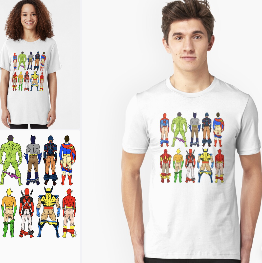 Superhero Butts Tshirt