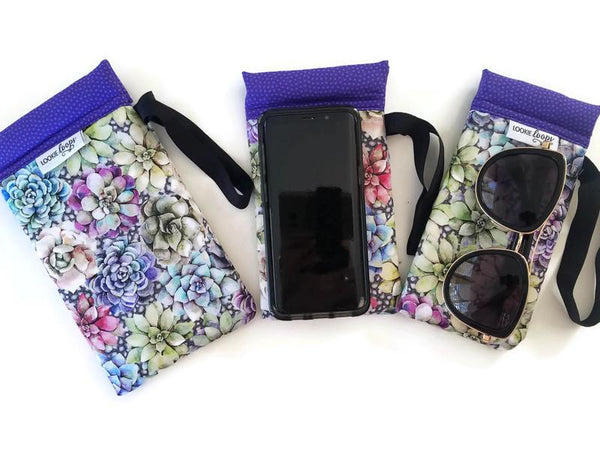 Succulents Cell Phone or Sunglass Case