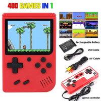 "2020 Hot Console Gamepad 400 In 1 Games 8-Bit Video Game Console 3.0"" LCD Screen Retro Handheld Nes Game Player TV Out Function"