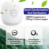 AUGIENB AC110-240v Air Purifier Ozone Generator Ionizer Generator FILTER Purification Home Toilet Pet Deodorizer Air Ionizer
