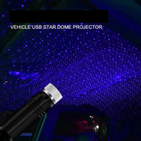 Blue LED Car Roof Star Night Light Projector Atmosphere Galaxy Car Lamp USB Decorative Lamp Adjustable Car Light