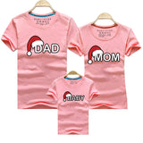 Dad Mom Baby Christmas T-Shirt Clothing for Family Matching Outfits Clothes Mother Daughter Father Son Look Mommy and Me Shirt 1 2