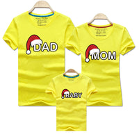 Dad Mom Baby Christmas T-Shirt Clothing for Family Matching Outfits Clothes Mother Daughter Father Son Look Mommy and Me Shirt