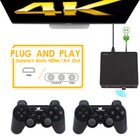 Data Frog Retro Video Game Console With 2.4G Wireless/Wired Gamepads 600 Games For HDMI Family TV Game Console For GBA/SNES